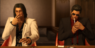 Full Suited Kiryu with Aviator Sunglasses