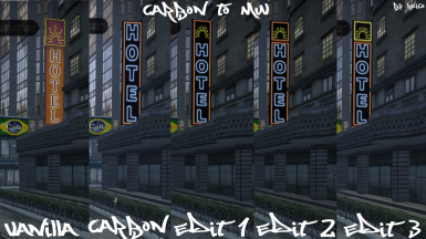 (Carbon to MW) Hotel Neon Sign