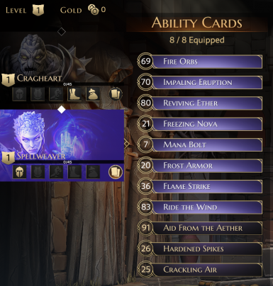 Start with X cards available