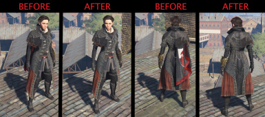 Hidden Cape for Evie Frye