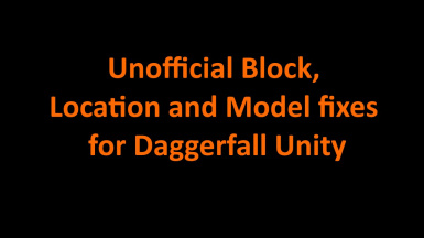 Unofficial Block Location and Model fixes