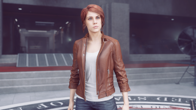 Civilian outfit - Brown Jacket and boot and white shirt