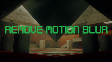 Disable Motion Blur