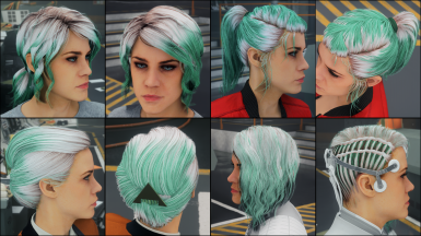 Pure Green on white hair