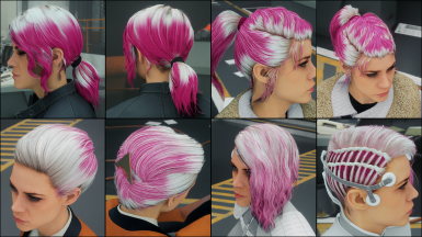 Pure Magenta on white hair
