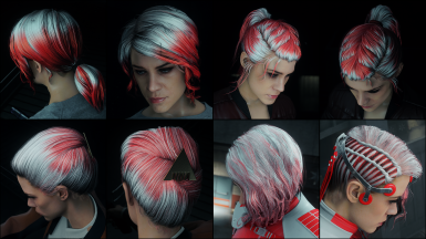 Pure Red on white hair