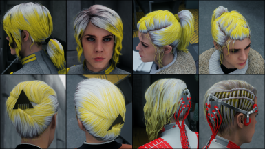 Pure Yellow on white hair