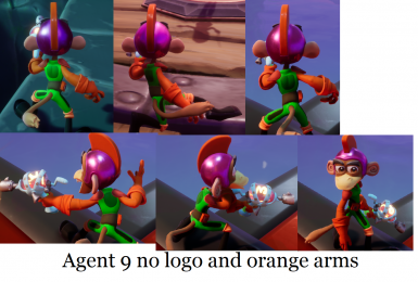 Agent 9 Classic Color V2 - Removed Rynoc badge and make arms orange