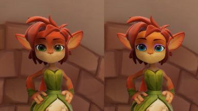 Elora face color change