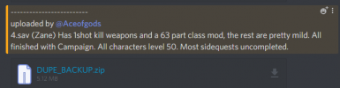 All 4 characters - level 50 - finished campaign