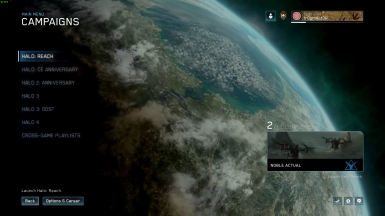 Halo Reach Menu (Planet)