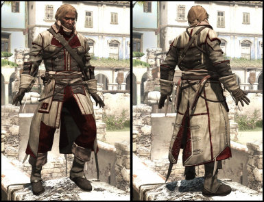 Templar outfit with assassins colors and emblem