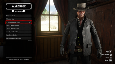 John's npc leather jacket included as a new unique coat