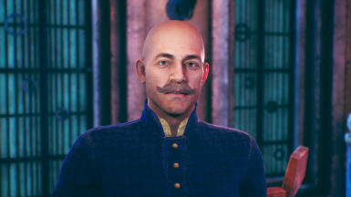 Max mustache and bald