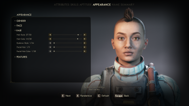different hairstyle, no clipping on this one