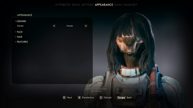 Character Creator Extended Facial Sliders