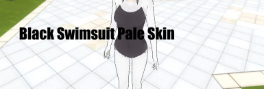 Black Swimsuit Pale Skin