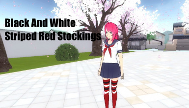 Black And White Striped Red Stockings