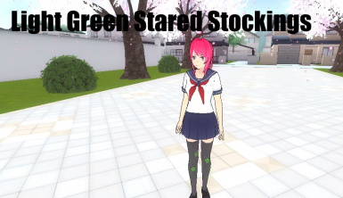 Light Green Stared Stocking