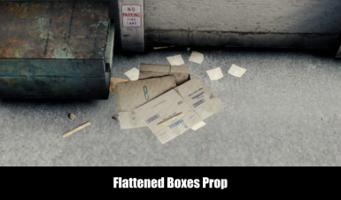 Flattened Boxes Prop