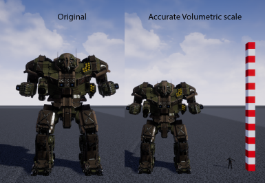 Volumetric Re-scale for Mechs and Tanks