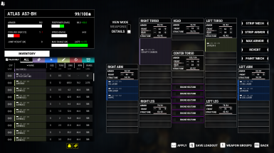All Sarna Weapons with select equipment