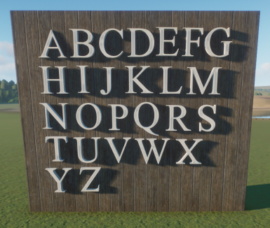 3D Alphabet Replacer- Times New Roman