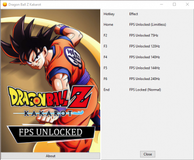 Dragon Ball Z Kakarot - FPS Unlocked Trainer