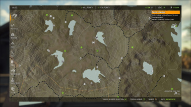 Tents Tripods and decoys deployed on maps