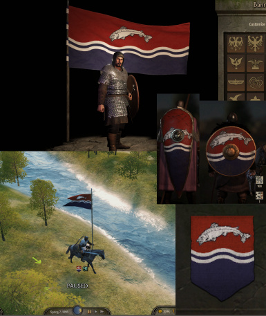 A Song of Ice and Fire (Game of Thrones) and other banners