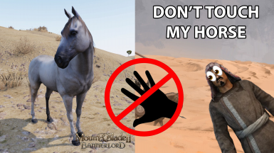 Don't touch my horse
