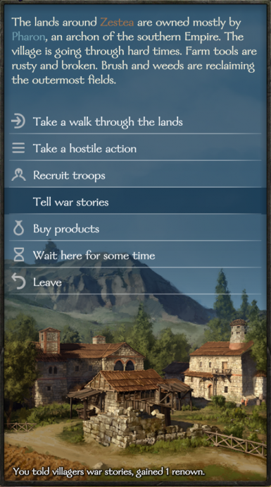 Tell War Stories to Villages