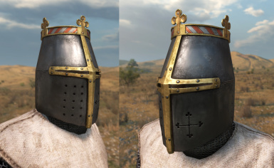 Tiny crowned helm