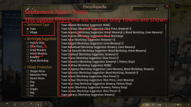 Town Based Filtering