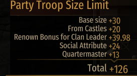 Neated's Warband Party Sizes