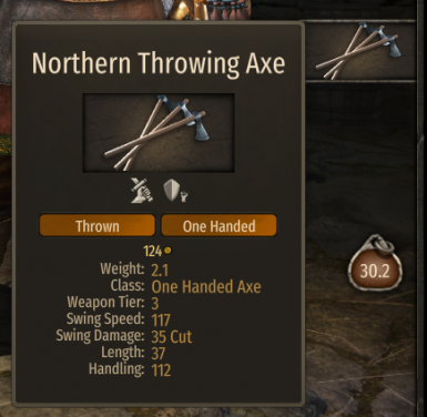 Throwing Axe Changes
