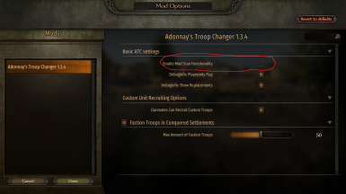 Make sure your mod options look like this