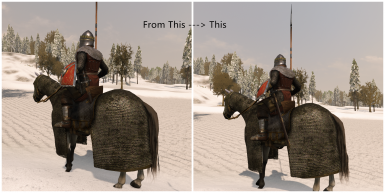 Sword on horseback clipping adjustment