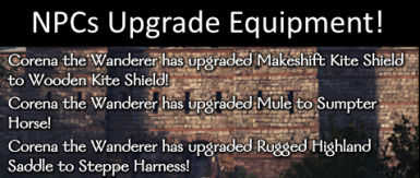 Neated's NPCs Upgrade Equipment (1.2 and 1.3 Compatible)