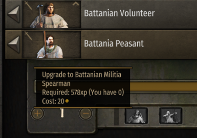 Upgrading from peasants