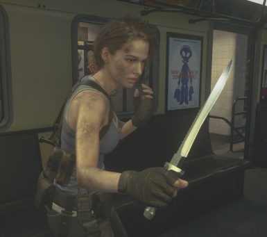Jill's REmaster Knife Replaces Combat Knife