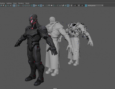 before editing the mesh to match Nemesis' proportions