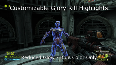Reduced Glow Effect - Blue color