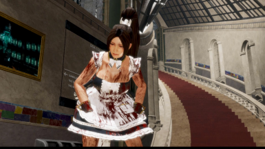 More Blood on Mai Shiranui (Basic Blood Battle Damage)