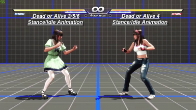DoA6 Hitomi's Dead or Alive 4 Stance Idle Animation