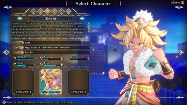 Kevin Costume Swap (Grappler to Beast King)