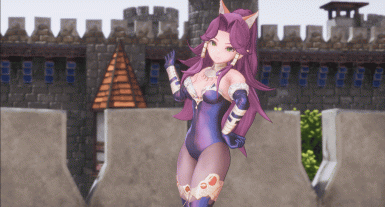 Change Angela wear to Blue Leotard and Attach Nekomimi