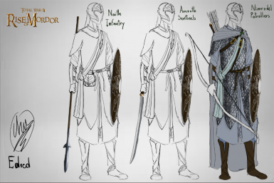 T2 roster for Lorien for the Amroth Sentinels/Naith Infantry/Nimrodel Patrollers - Concept rework by Edred