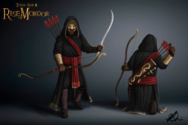 The Black Serpent Rangers, elite and deadly assassins from Far Harad - Concept by Maeron