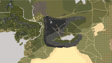 Overhead view of the new revamp of Mordor on the campaign map - Work in progress by JustLeo